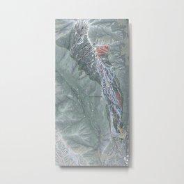 Aspen Highlands Resort Trail Map Metal Print