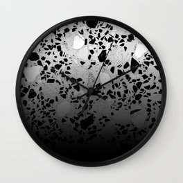 Concrete and Marble Mix Black Gradient Wall Clock