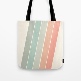 Trippin' - retro 70s socal minimal striped abstract art california surfing vintage Tote Bag