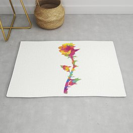 Splatter Rose Rug