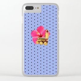 9mm Hibiscus Dots Clear iPhone Case