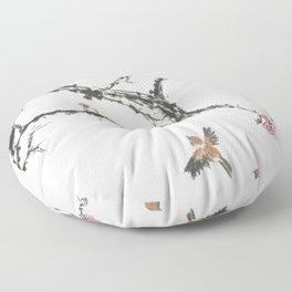 Sparrows & Blossoms Floor Pillow