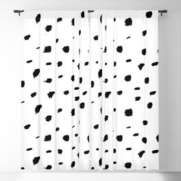 Ink Spots // Black-and-white abstract Blackout Curtain