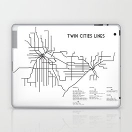 Twin Cities Lines Map Laptop & iPad Skin