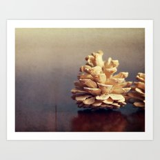 Winter Pinecone Art Print