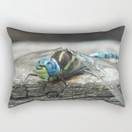 Brachytron pratense -  Hairy Dragonfly. Rectangular Pillow