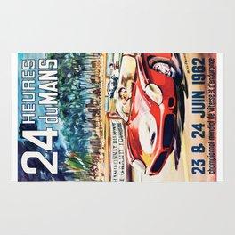 Le Mans 1962 vintage poster, Le Mans t-shirt, Le Mans poster Rug