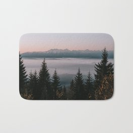 Faraway Mountains - Landscape and Nature Photography Bath Mat