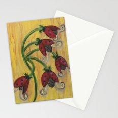 Ladybug Flowers Stationery Cards