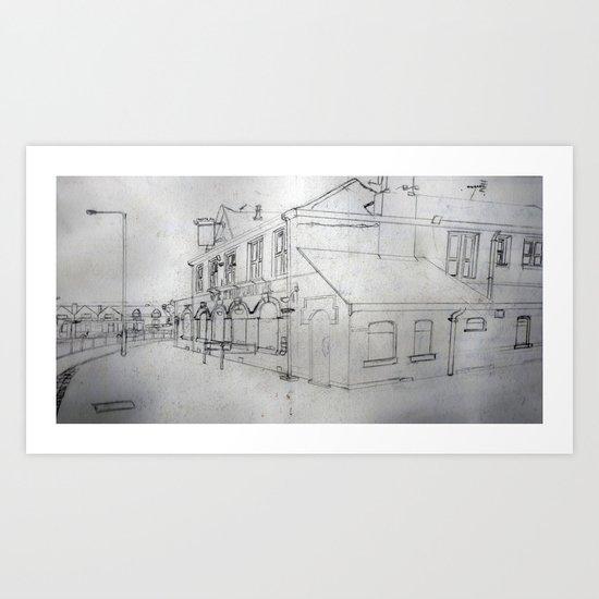 Closed-down Pub Art Print