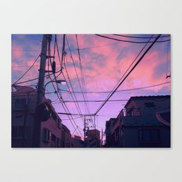 Anime Sunrise Canvas Print