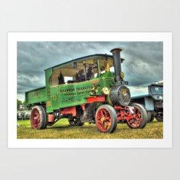 Foden Steam Wagon Art Print