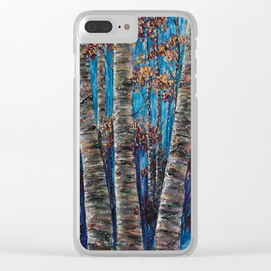 Aspen Forest In The Rocky Mountain Clear iPhone Case