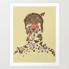 FACES OF GLAM ROCK Art Print