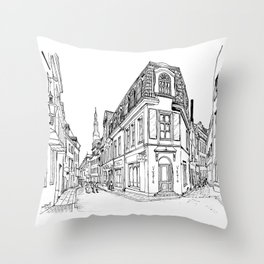 Old Alley Throw Pillow