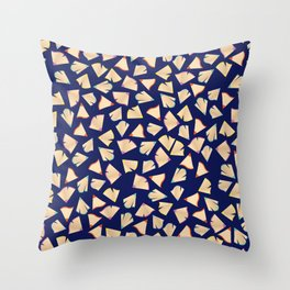 Color Pencil Shavings Pattern Throw Pillow