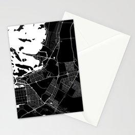 Street MAP Abu Dhabi  // Black&White Stationery Cards