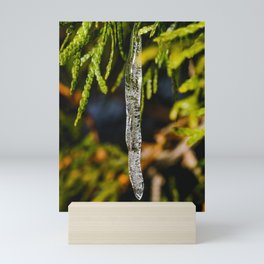 Frozen Drip Photograph Mini Art Print