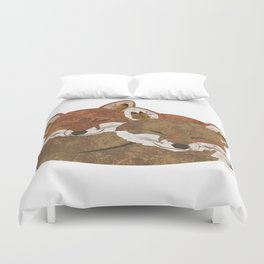 Shelter (Stacked Foxes) Duvet Cover