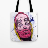 bill murray Tote Bags featuring Bill Murray by Astrosim