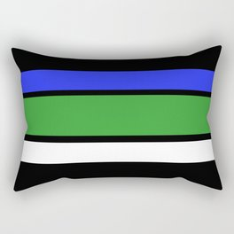 TEAM COLORS 2....blue,green and white Rectangular Pillow