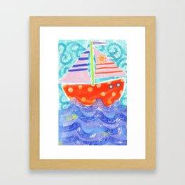 Happy Sailing Framed Art Print
