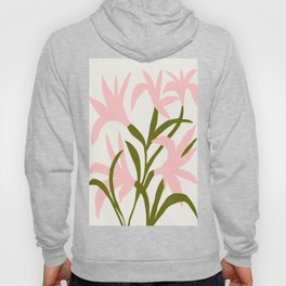 Floral Print, Flower Meadow, Large Giclee Print from Painting, Wall Art, Abstract Meadow Print, pink Hoody