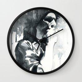 brian molko (smoking) Wall Clock