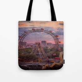 Wheel of fortune in Vienna Tote Bag
