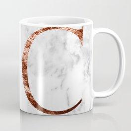 Monogram rose gold marble C Coffee Mug