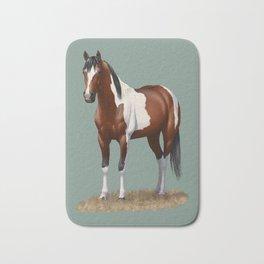 Beautiful Bay Pinto Quarter Horse Bath Mat
