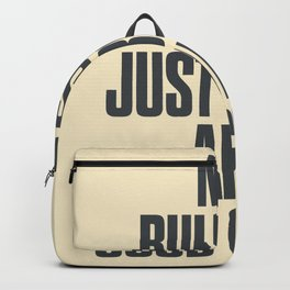 No bullshit, just booze and good coffee, inspirational quote, positive thinking, feelgood Backpack
