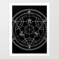 pentagram Art Prints featuring Pentagram by Maioriz Home