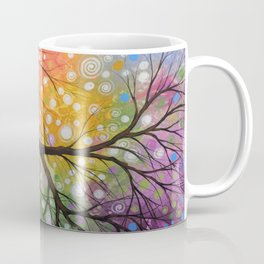 Abstract Art Landscape Original Painting ... Bursting Sky Coffee Mug