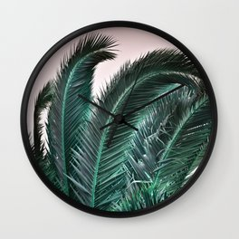 Palm Tree Leaves Wall Clock