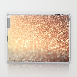 Cozy Copper Espresso Brown Ombre Autumnal Mermaid Glitter Laptop & iPad Skin