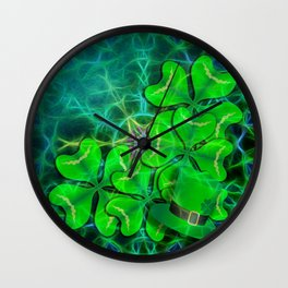 clover and kaleidoscope Wall Clock
