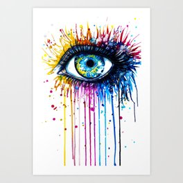 EYE---DRIPPING Art Print