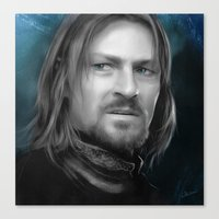 the lord of the rings Canvas Prints featuring Boromir - Lord of the Rings by Caim Thomas