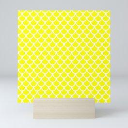 Scales (White & Yellow Pattern) Mini Art Print