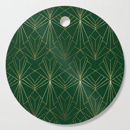 Art Deco in Gold & Green Cutting Board