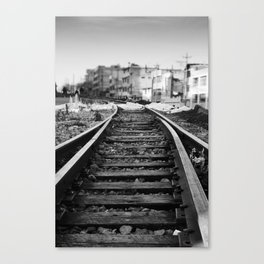 Train coming to town Canvas Print