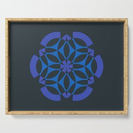Little Data | Abstract sacred geometry | Aliens crop circle Serving Tray