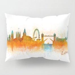 London City Skyline HQ v2 Pillow Sham