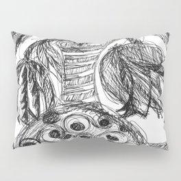 Plant in Vase Sketch Pillow Sham