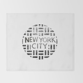 new york city typography illustration Throw Blanket