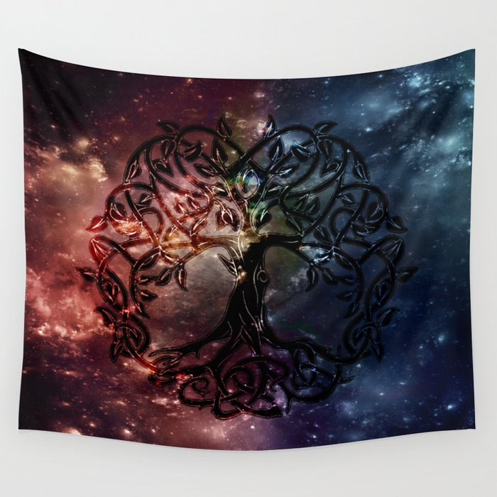 Viking Tree Of Life Wall Tapestry By Snuggly