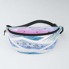 Abstract Seascape with Dolphin Fanny Pack