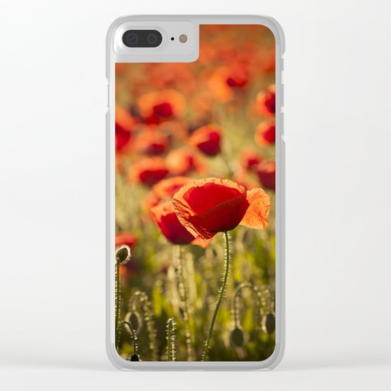 Poppies in LOVE - Poppy Flower Flowers Clear iPhone Case