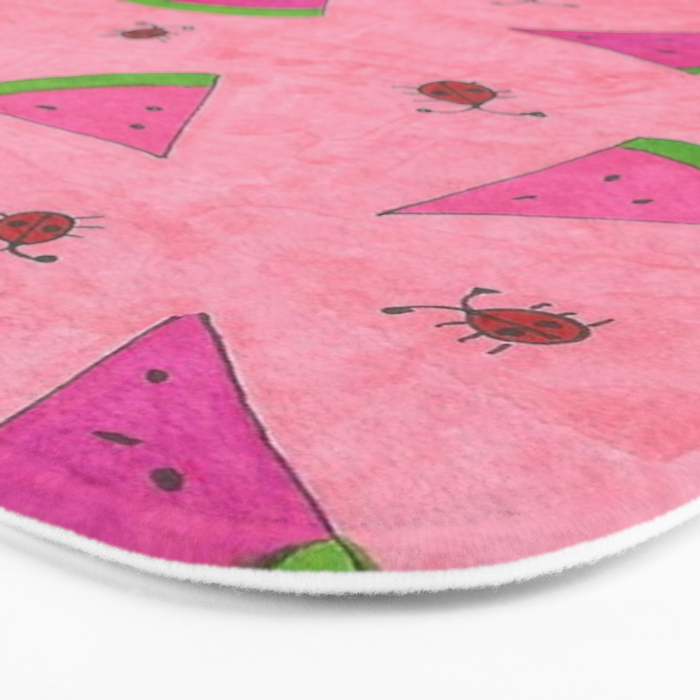 Watermelons and Lady Bugs Bath Mat